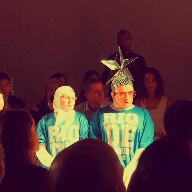 Верка Сердючка посетила модный показ на Неделе моды в Нью-Йорке
