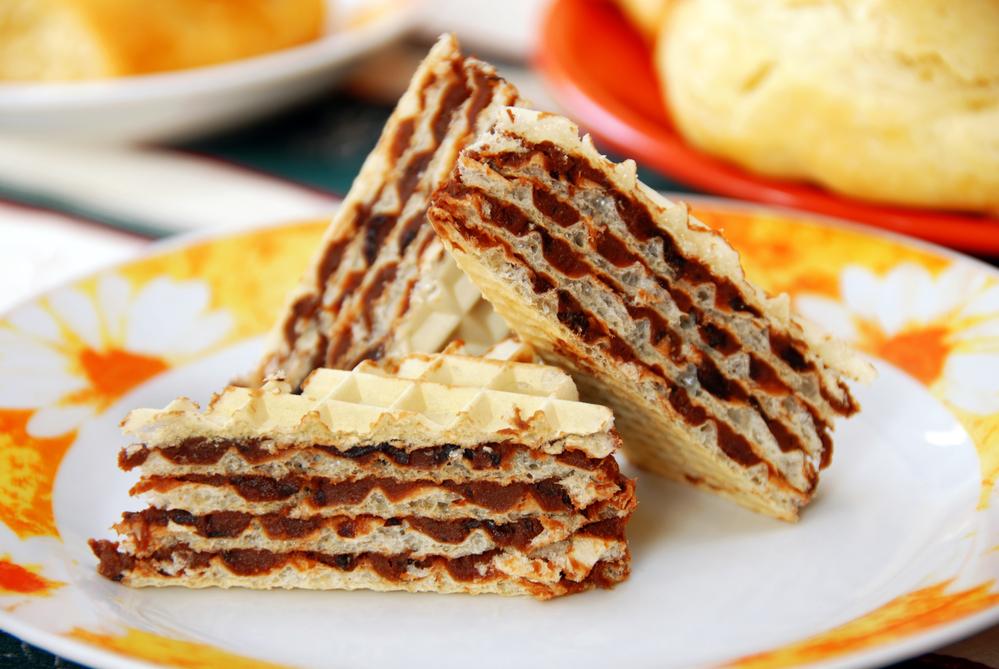 фото рецепт пирожное с вафель