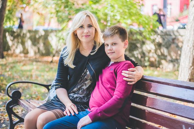 Юлия Глушко с сыном
