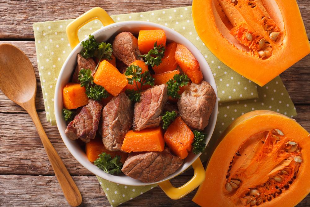 Рецепт блюда из мяса и тыквы