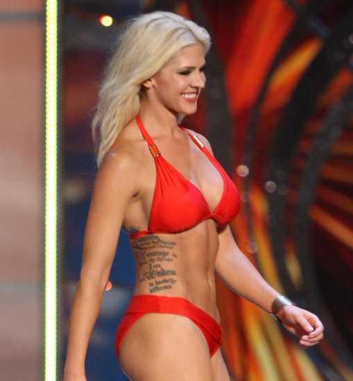 Тереза Вэйл покажет свои татуировки на конкурсе Мисс Америка 2014