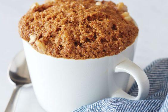 Кекс в кружке: рецепт быстрого десерта