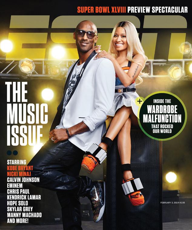 Певица Ники Минаж и баскетболист Коби Брайант на обложке ESPN