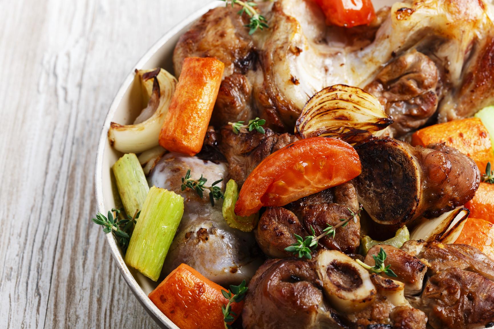 Овощи с говядиной в духовке рецепты