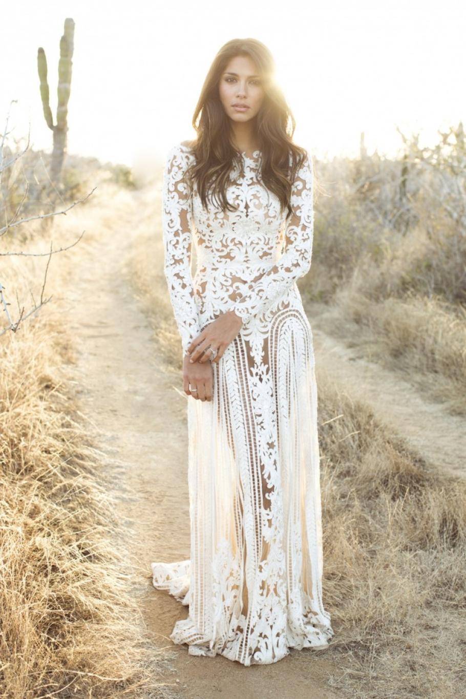 свадебные платья в стиле бохо-шик