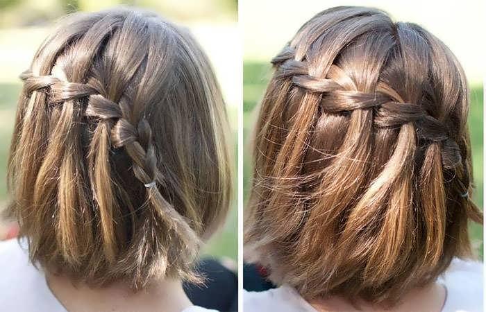 Прическа на короткие волосы -