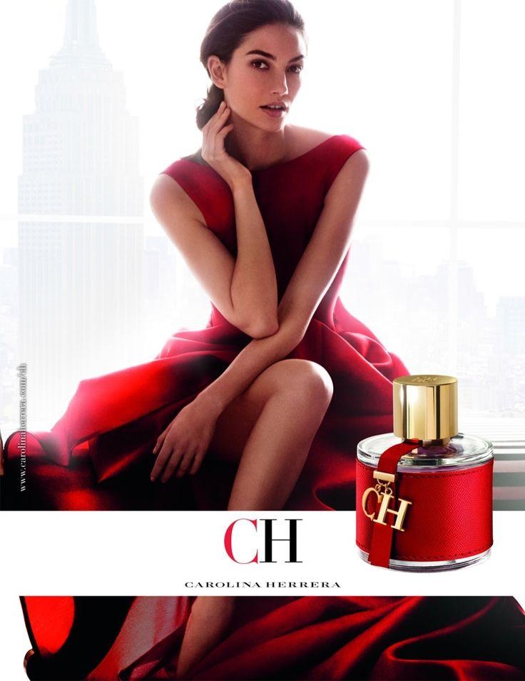 Модель Лили Олдридж в рекламной кампании аромата CH от Carolina Herrera