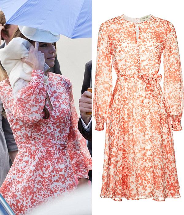 Кейт пришла на свадьбу друзей в цветочном платье