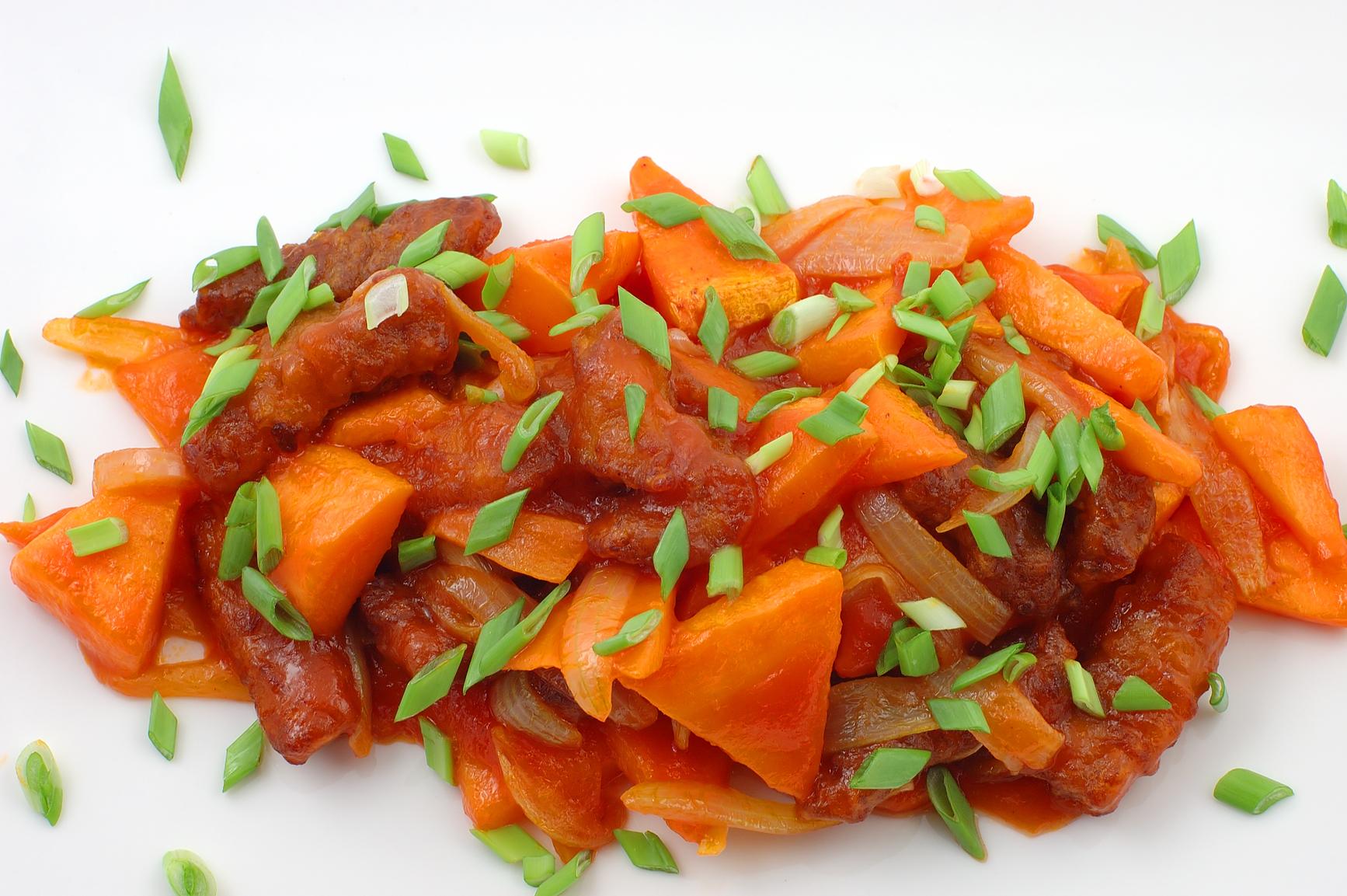 Мясо по восточному рецепт с овощами