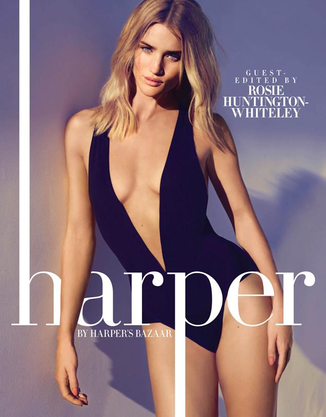 Модель Рози Хантингтон-Уайтли в сексуальном купальнике украсила странички журнала Harper