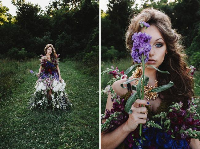 Дизайнеры создали платье из живых цветов