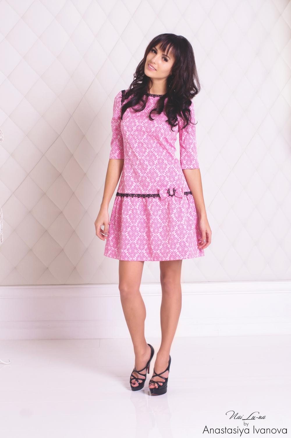 Платье нежно-розового цвета отлично подойдет для первых свиданий