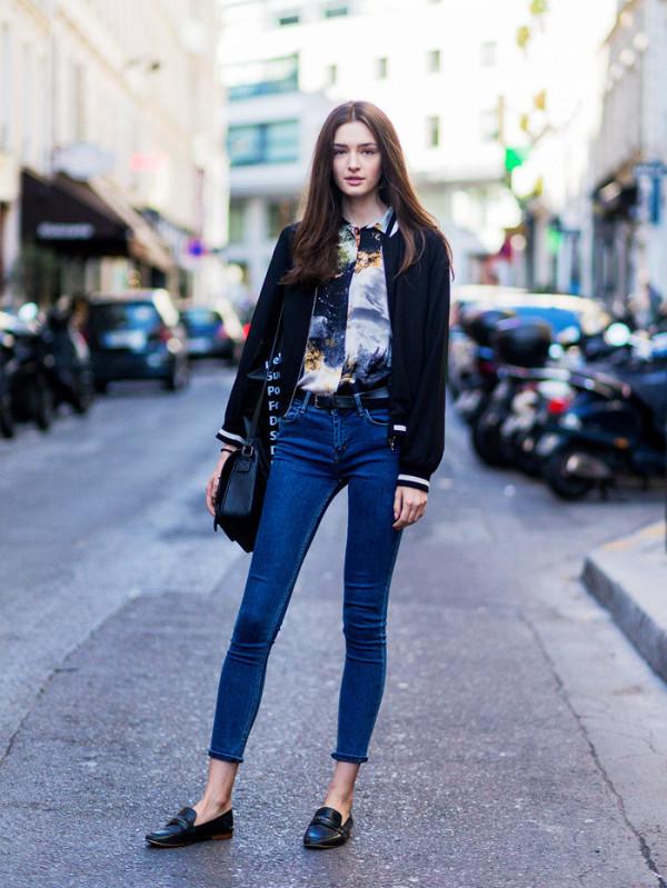Ошибки стиля девушек с широкими бедрами: Скинни