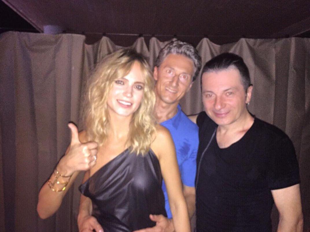Певица Глюкоза с мужем и артистом Вадимом Самойловым (справа)