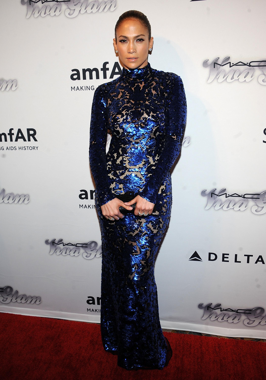 Дженнифер Лопес в платье Tom Ford