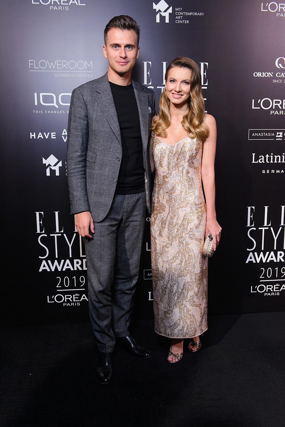 Александр Скичко и Елизавета Юрушева на ELLE STYLE AWARDS 2019