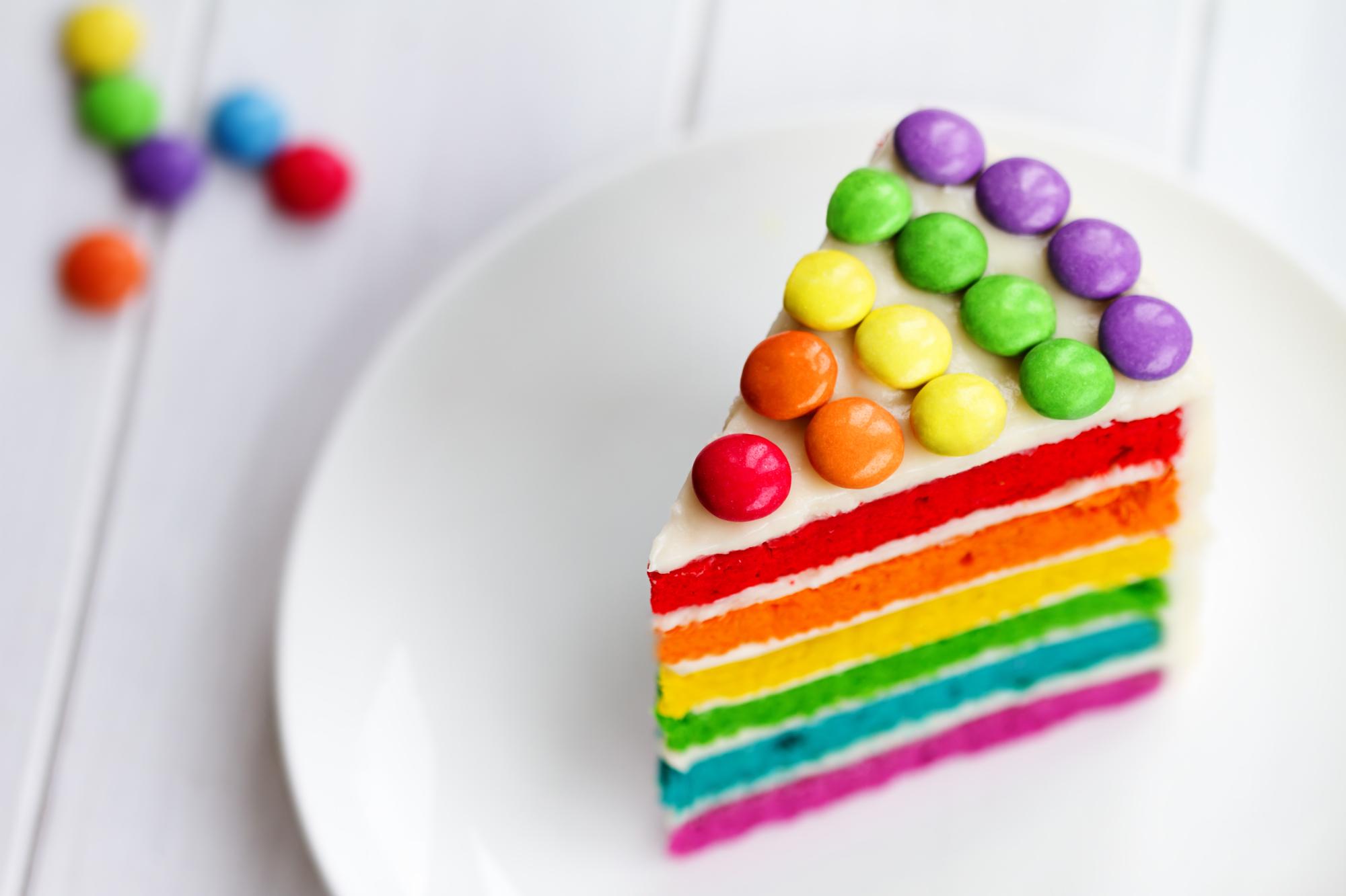 Радужный торт на день рождения: готовим яркий десерт