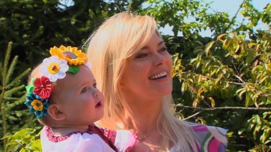 Ириша Блохина с дочкой