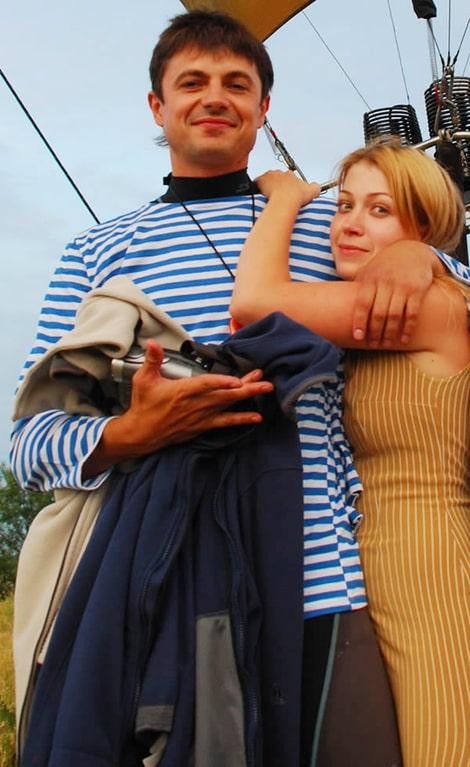 Марина Кутепова с мужем Сергеем Евланчиком