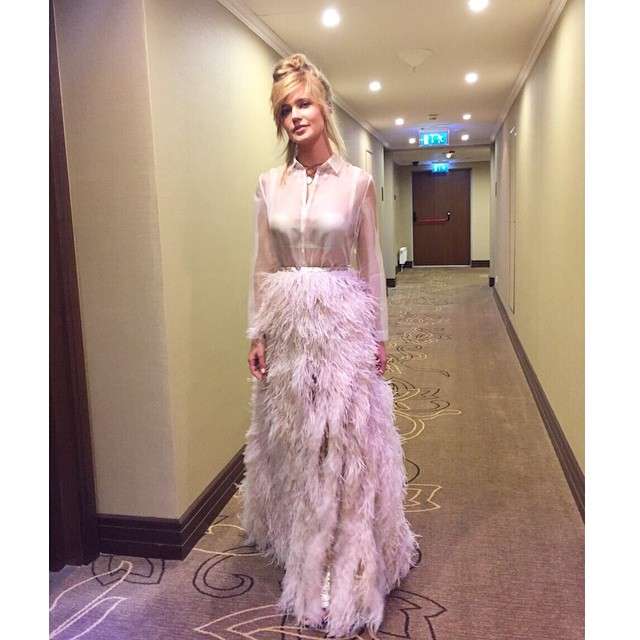 Глюкоза сама придумала платье для премии МУЗ-ТВ 2015