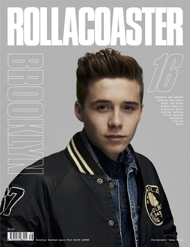 Сын Виктории и Дэвида Бекхэмов Бруклин в фотосессии для RollaCoaster