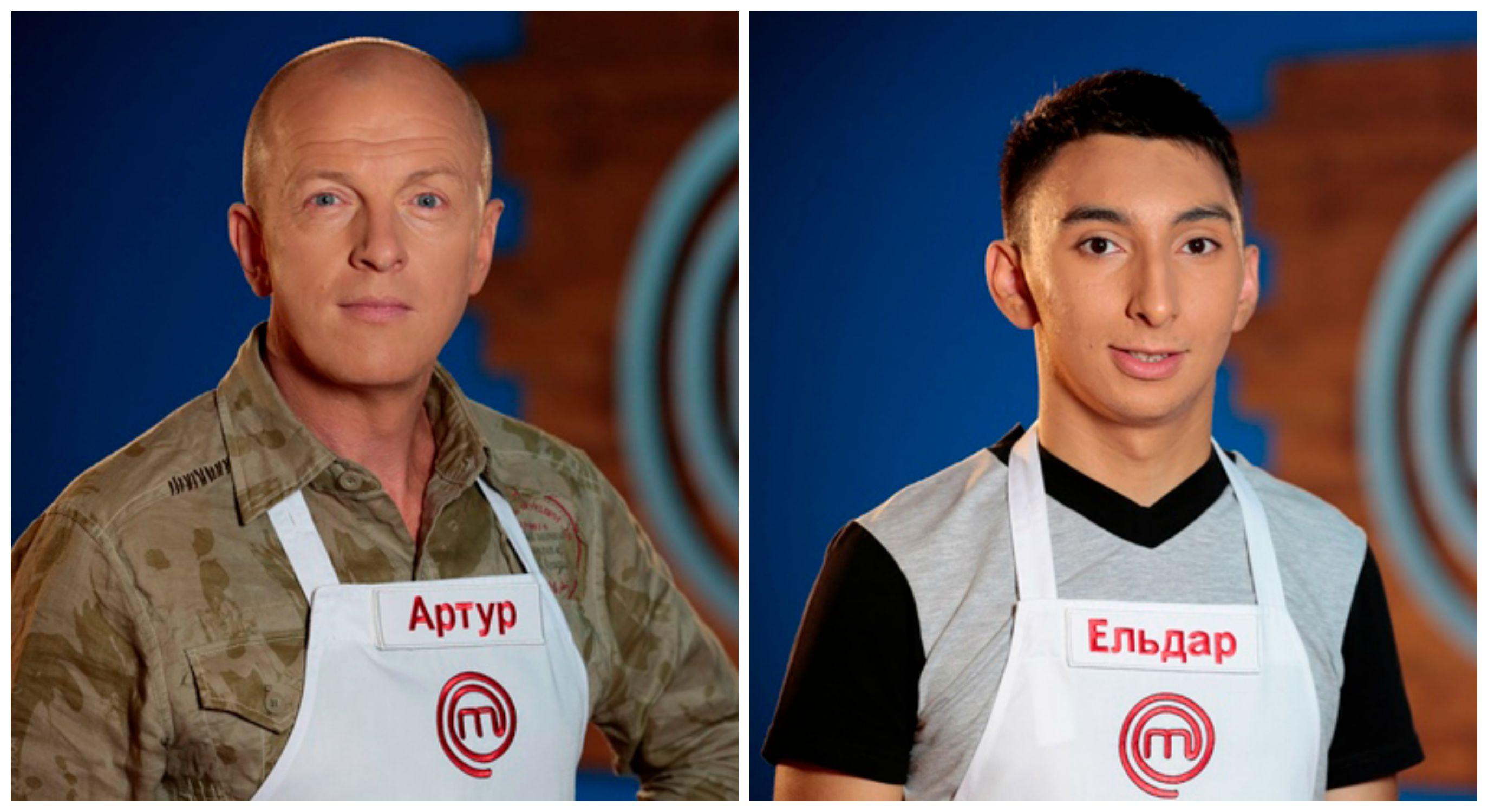 МастерШеф 5 сезон онлайн: В третьем выпуске шоу покинули Артур Хаустов и Эльдар Волонтьоров (справа)