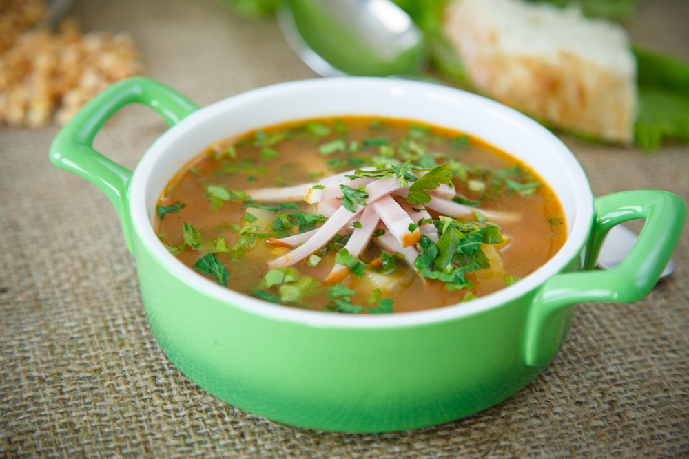 рецепт горохового супа с мясом видео