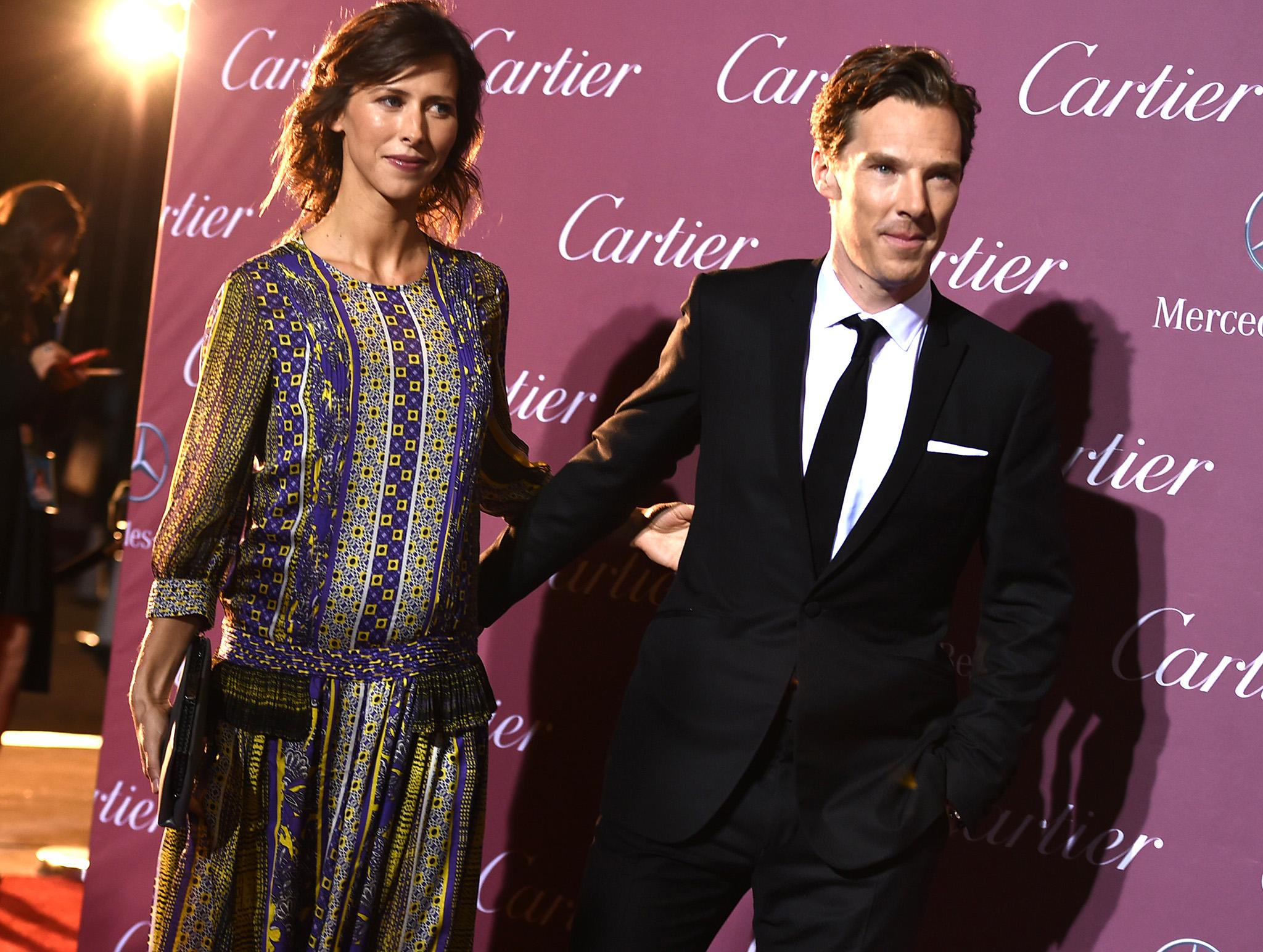 Бенедикт Камбербэтч с женой Софи Хантер стали самой стильной парой 2015 года по версии журнала Vanity Fair