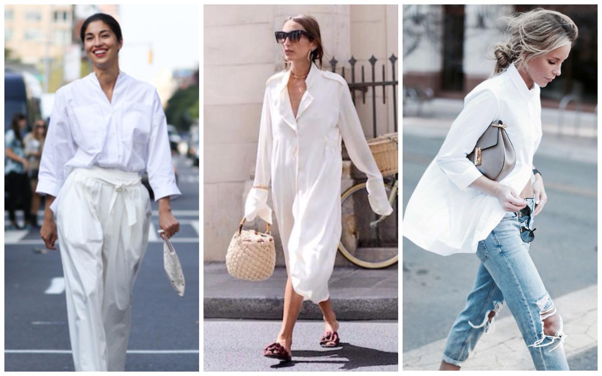 Белая рубашка оверсайз должна быть в гардеробе каждой тридцатилетней женщины