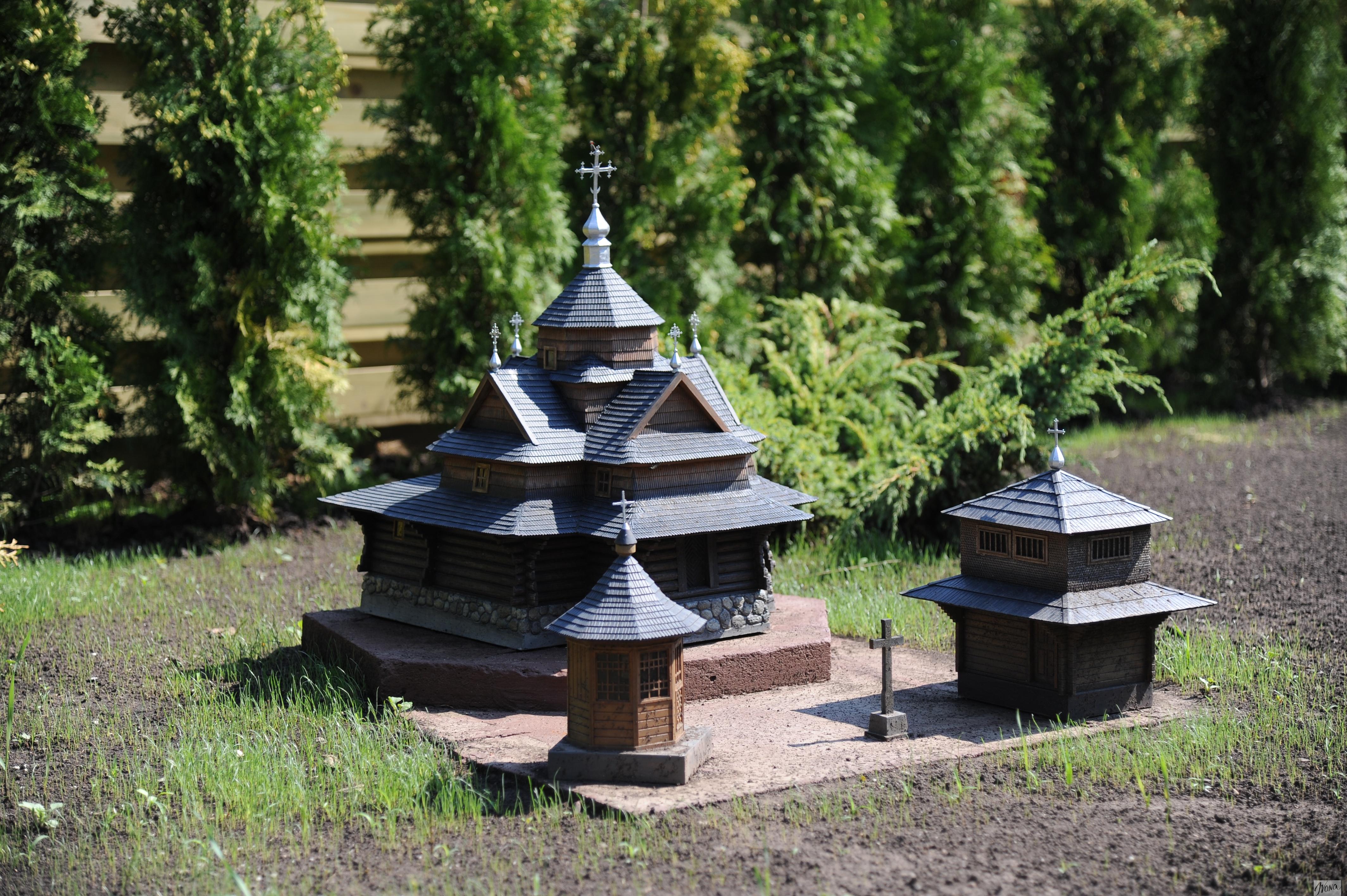 Выставка миниатюр. Церква Пресвятой Богородице в Ворохте
