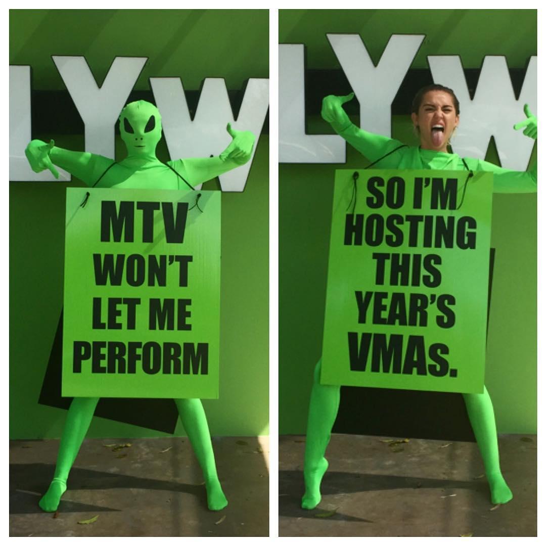 Майли Сайрус объявила поклонникам, что станет ведущей