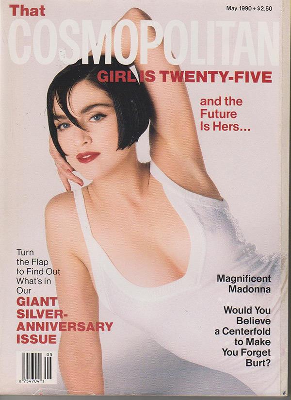 Мадонна на облоложке журнала 25 лет назад