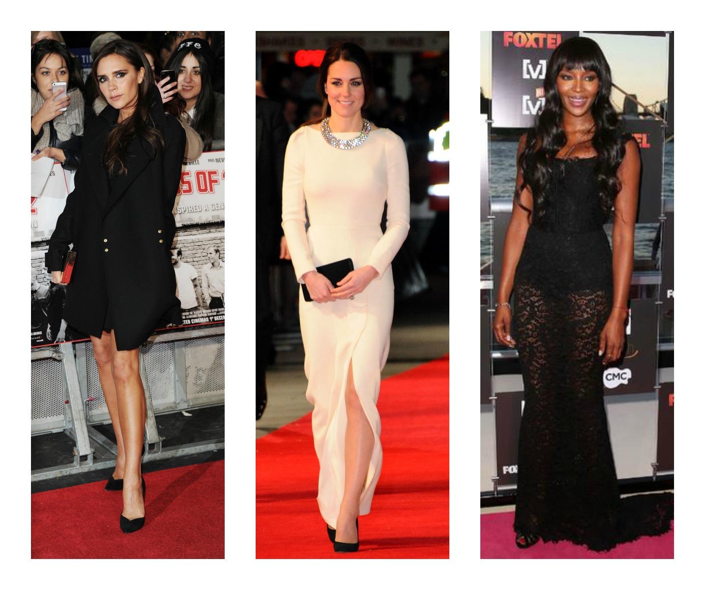 Среди самых стильных звезд прошедшей недели – Виктория Бекхэм, Кейт Мидддлтон и Наоми Кэмпбелл (слева направо)