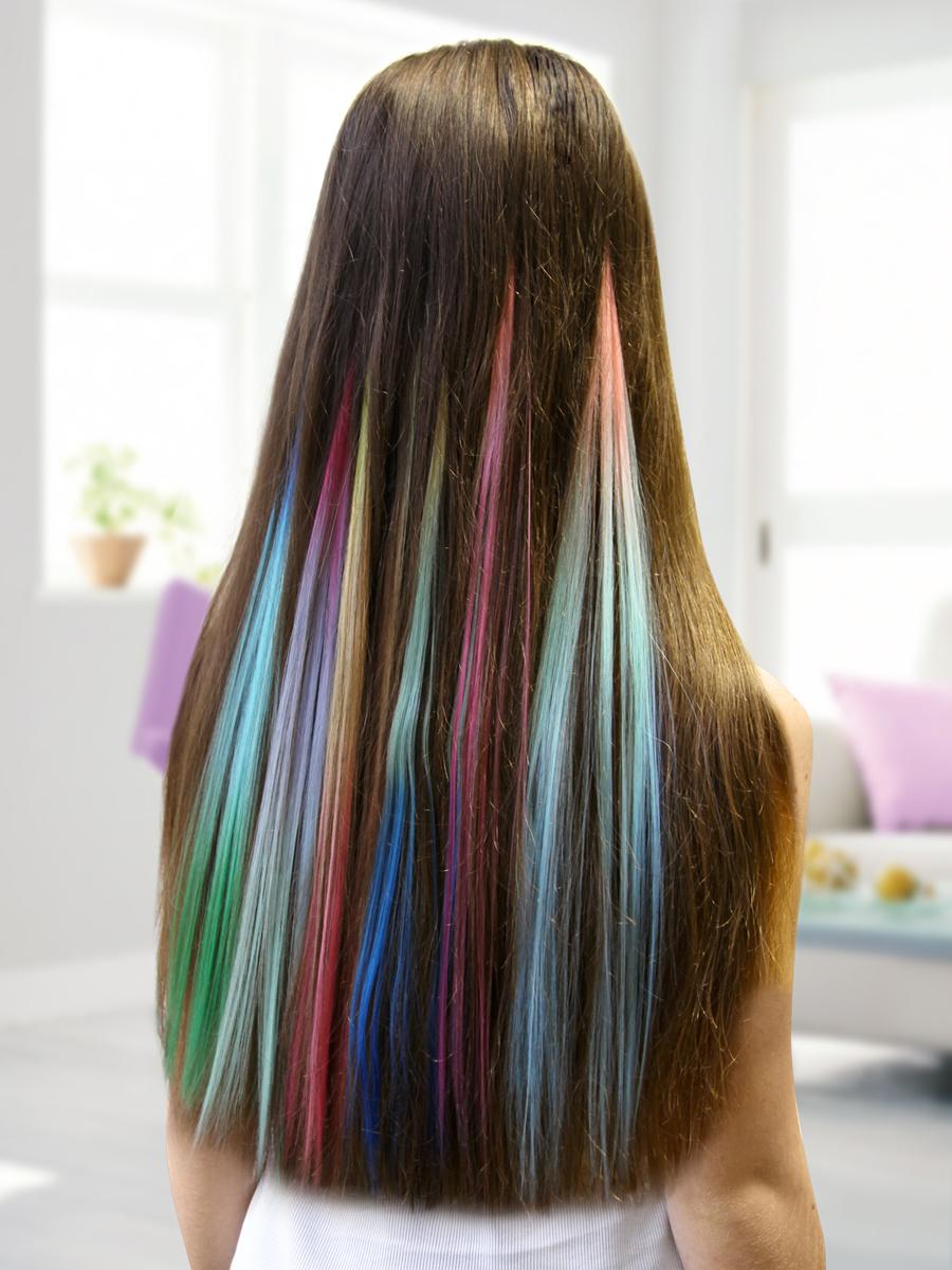 Макияж для волос - мелки, спреи и желе