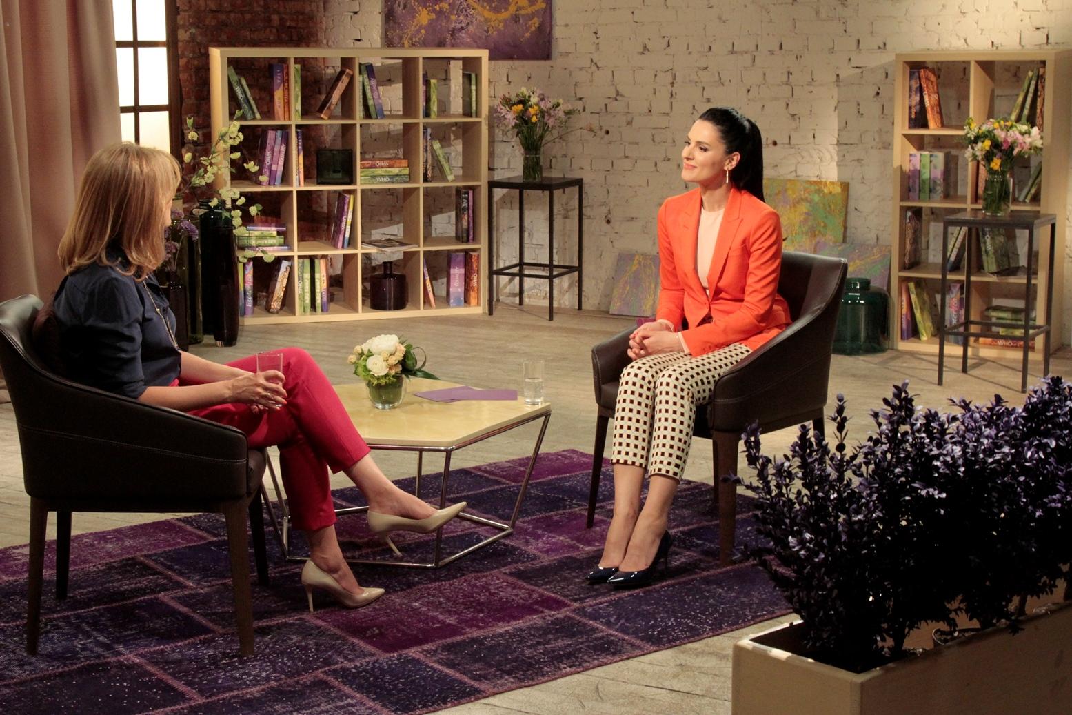 Елена Кравец на интервью с Машей Ефросининой