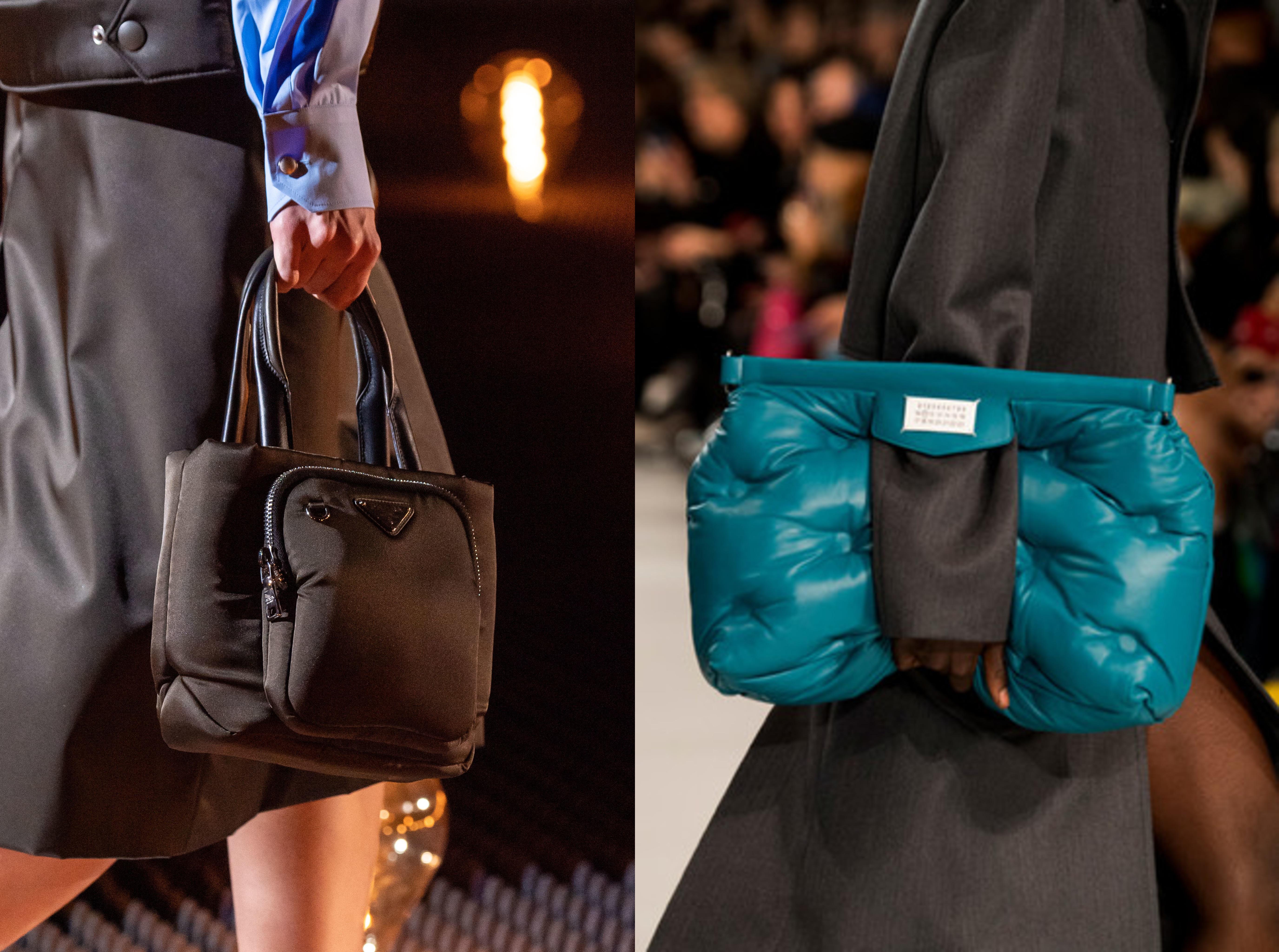 Стеганные и дутые сумки добавят уюта в любую погоду