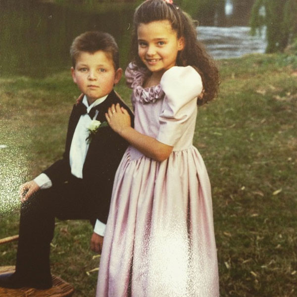 Меттью и Миранда Керр в детстве