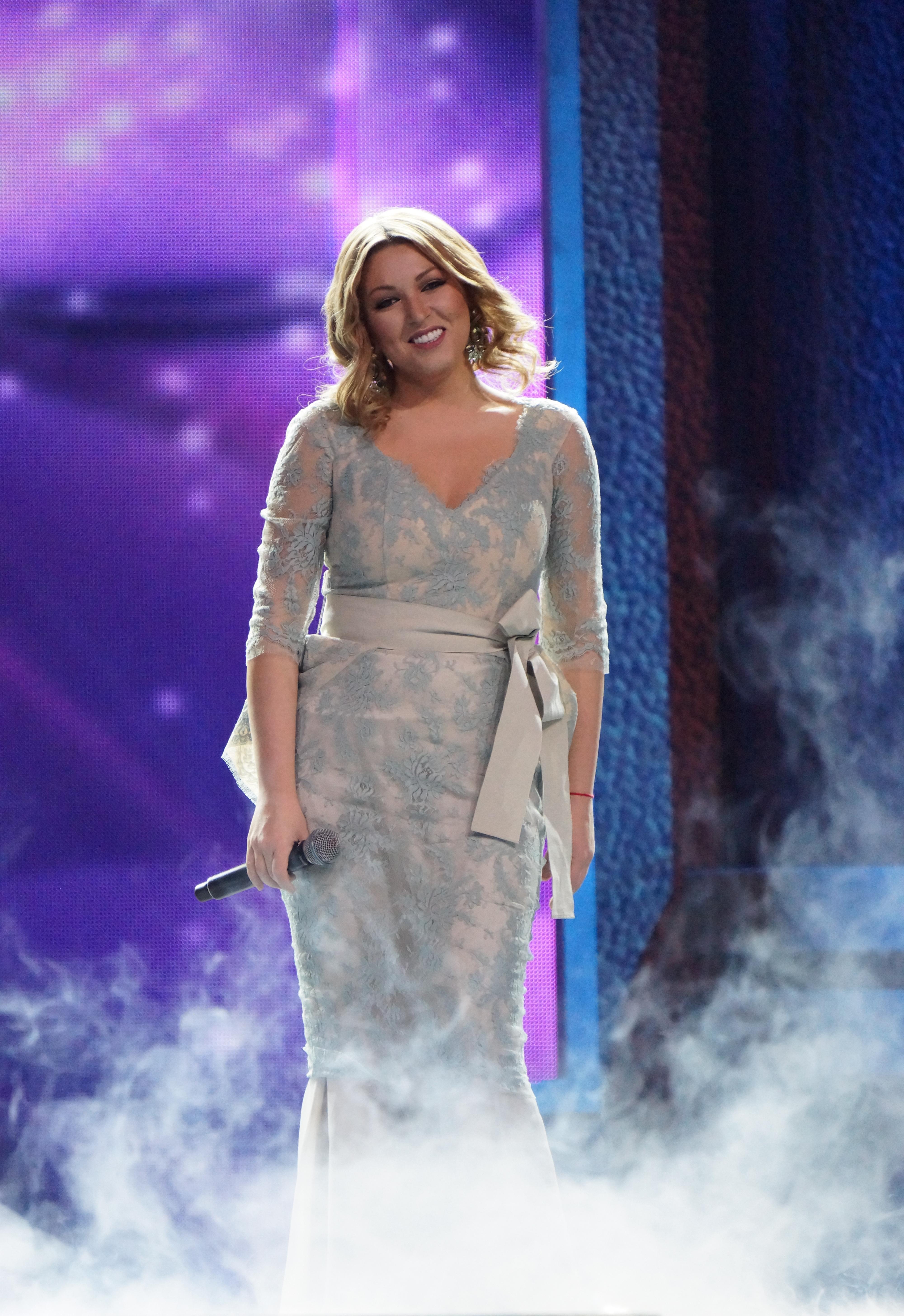 Российская певица Ирина Дубцова в своем любимом платье