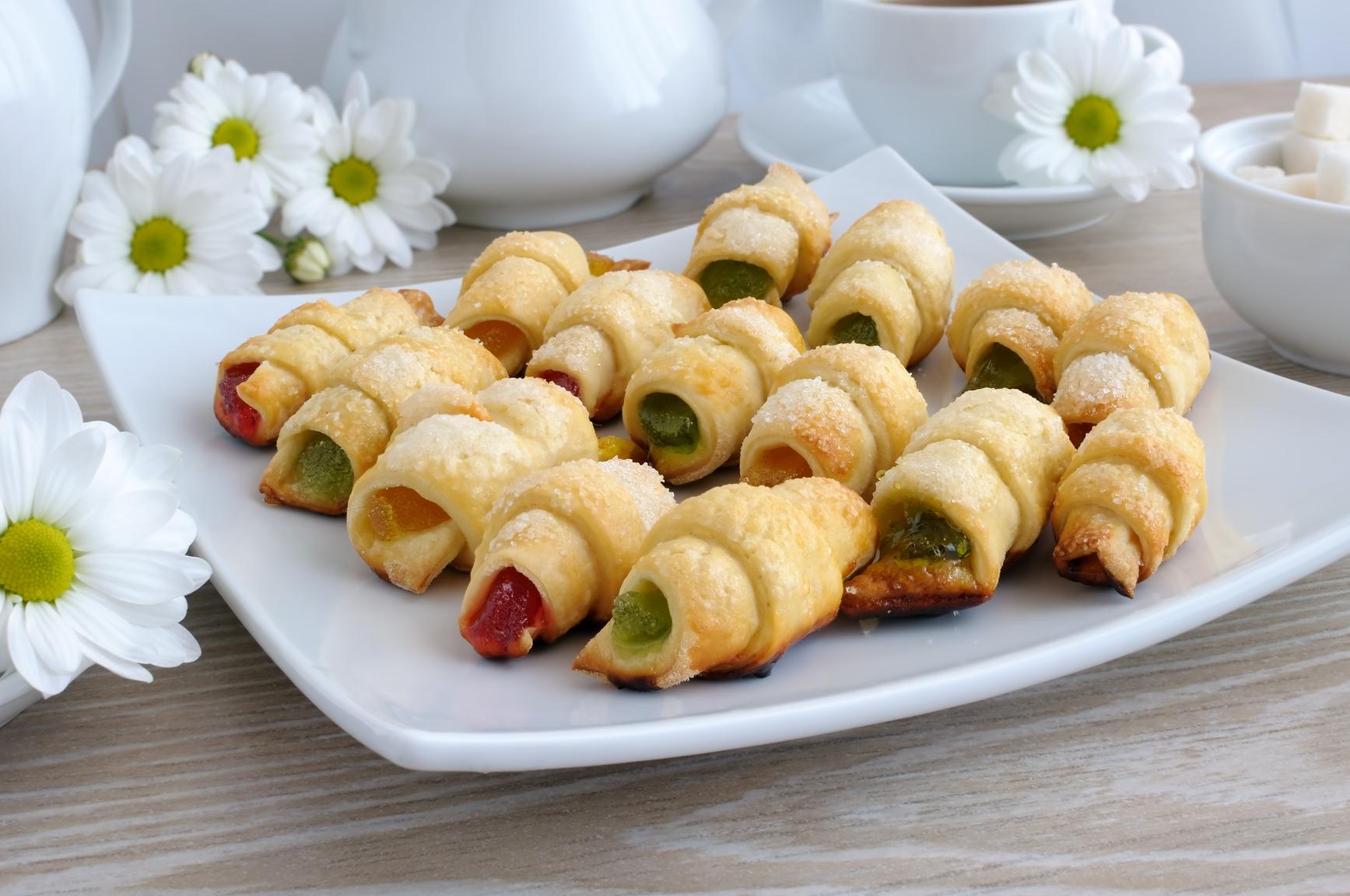 Печенье рулетики с мармеладом рецепт