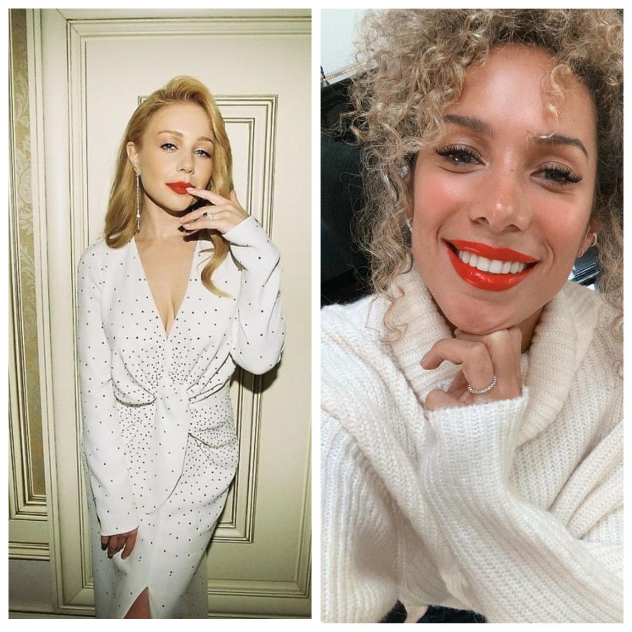 Кто краше?: Тина Кароль и Леона Льюис надели одинаковые платья