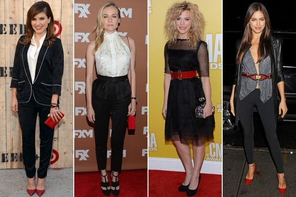 Слева направо: актриса София Буш, актриса Диана Крюгер, актриса Кимберли Перри, модель Ирина Шейк