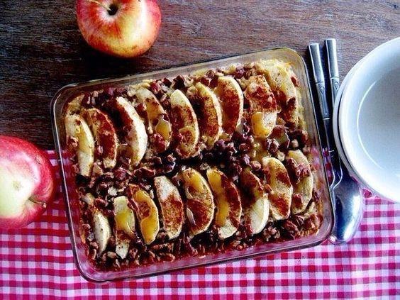Вкусно и просто: десерт из яблок в овсяной корочке
