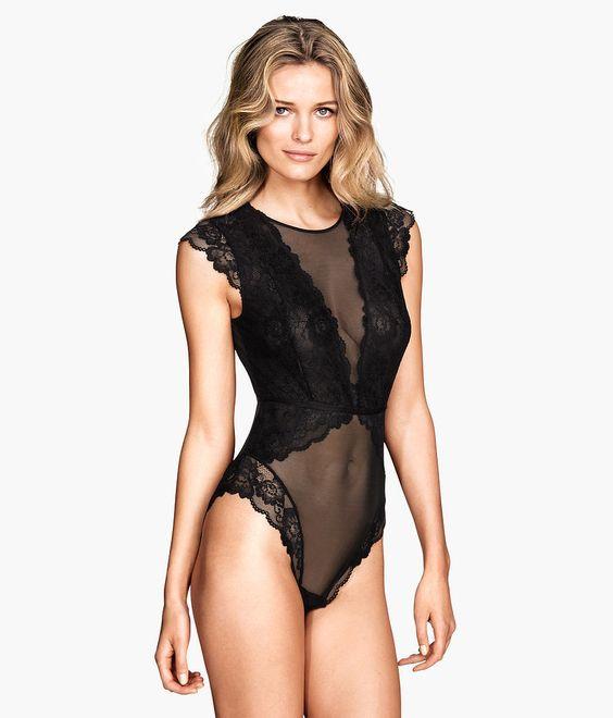 ТОП-7 образов одежды для сна - прозрачно-кружевной боди