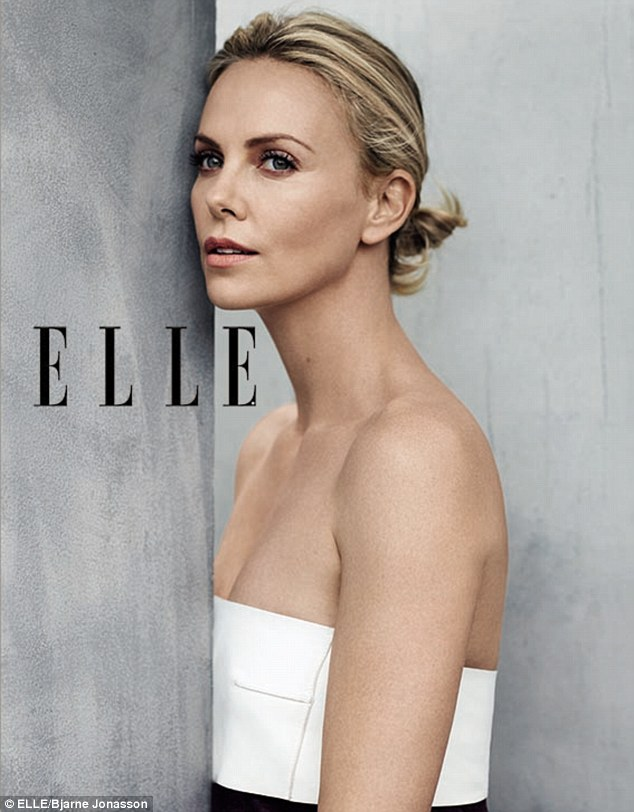39-летняя Шарлиз Терон снялась в фотосессии для Elle