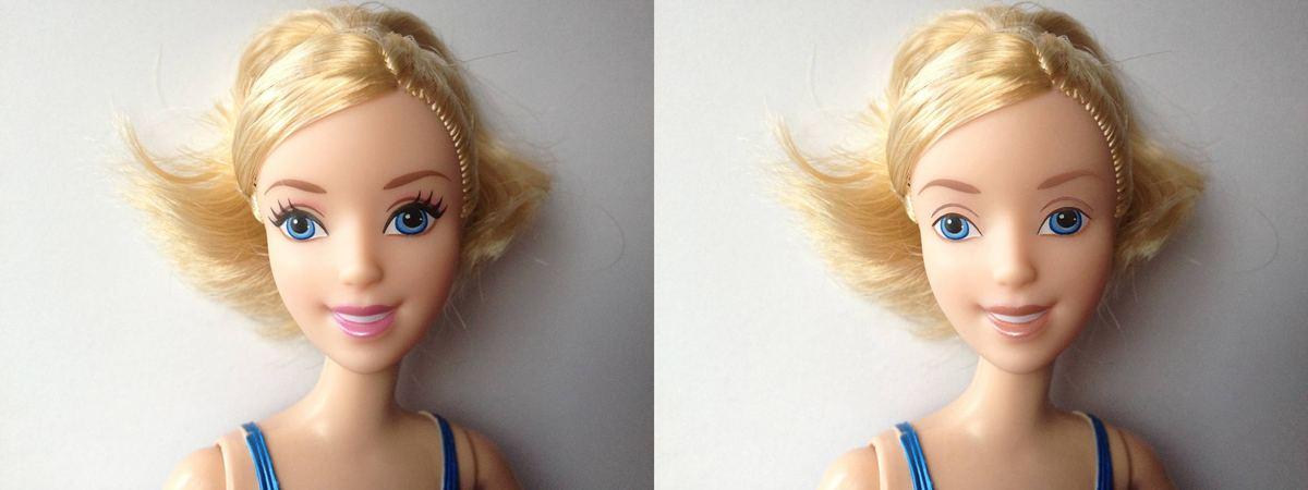 По мнению мастеров фотошопа, Кен выглядит чудесно... в отличии от Барби