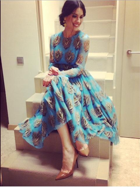Маша Ефросинина примерила платье от Dolce & Gabbana