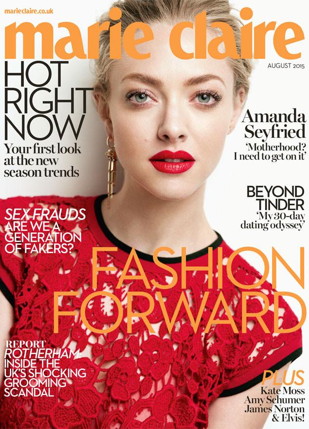 Актриса Аманда Сейфрид на обложке журнала Marie Claire U.K.