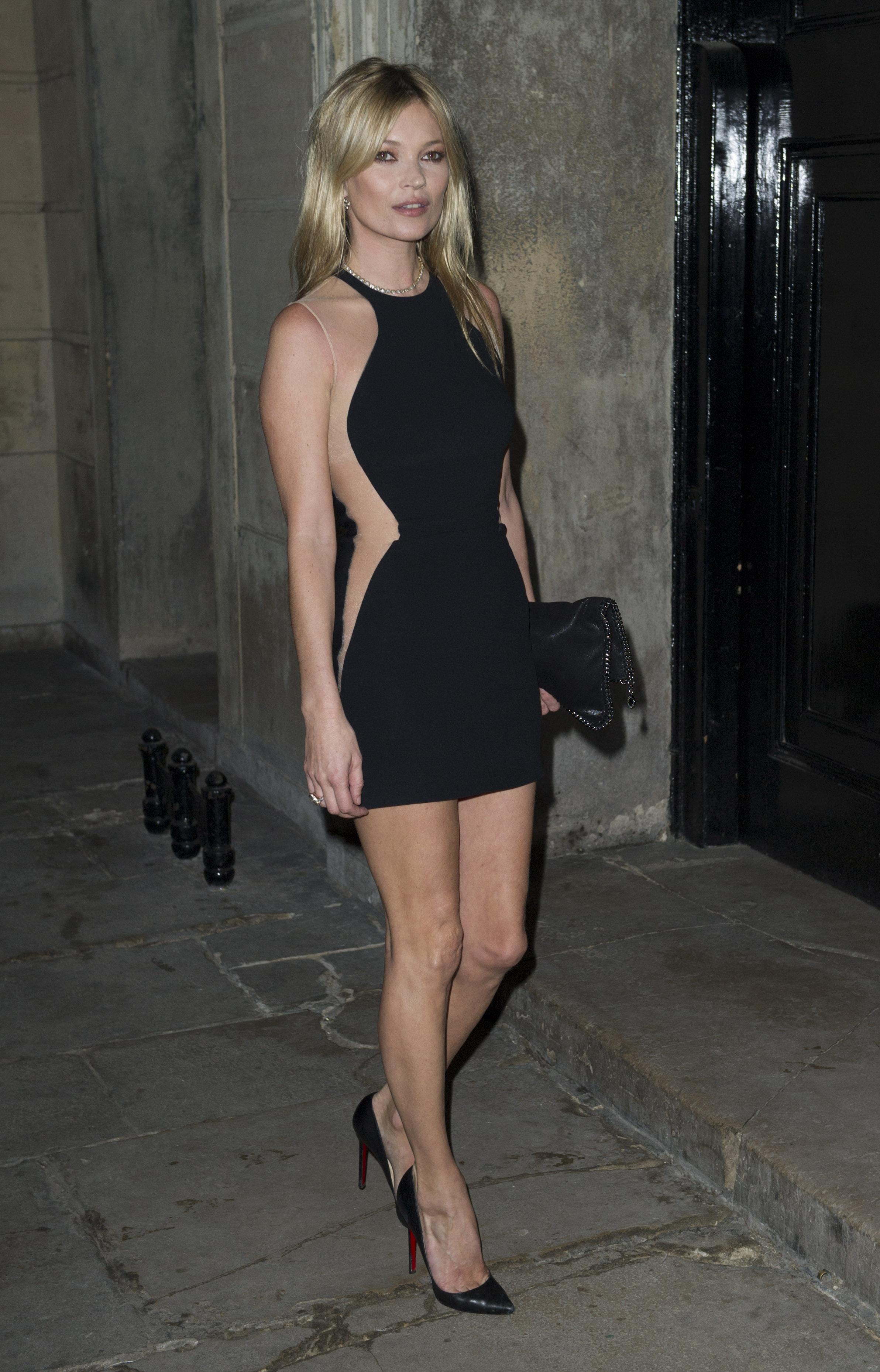 Кейт Мосс на презентации коллекции Stella McCartney (2012 год)