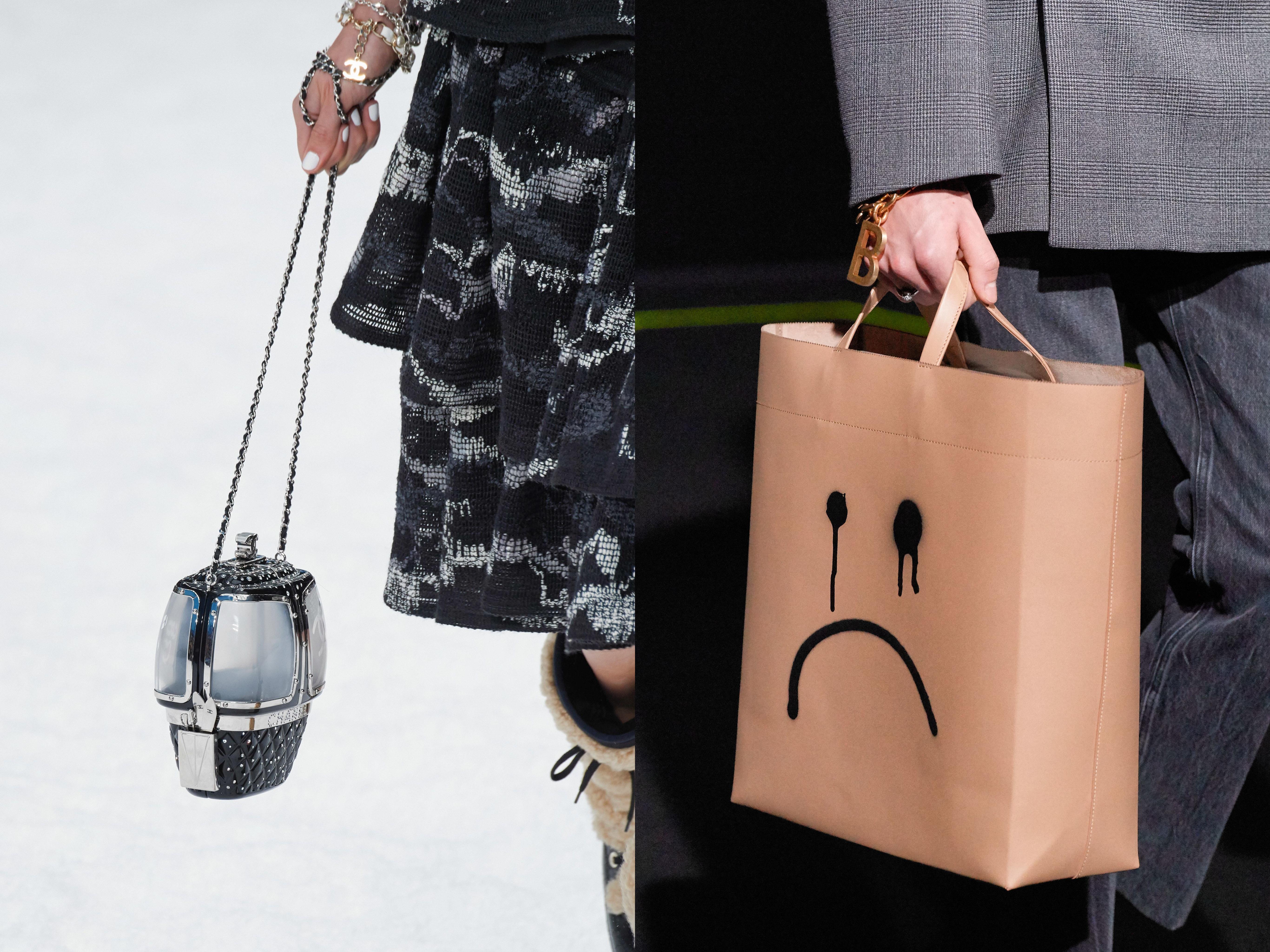 Выбирайте ироничные, но применимый в обычной жизни вариант сумки