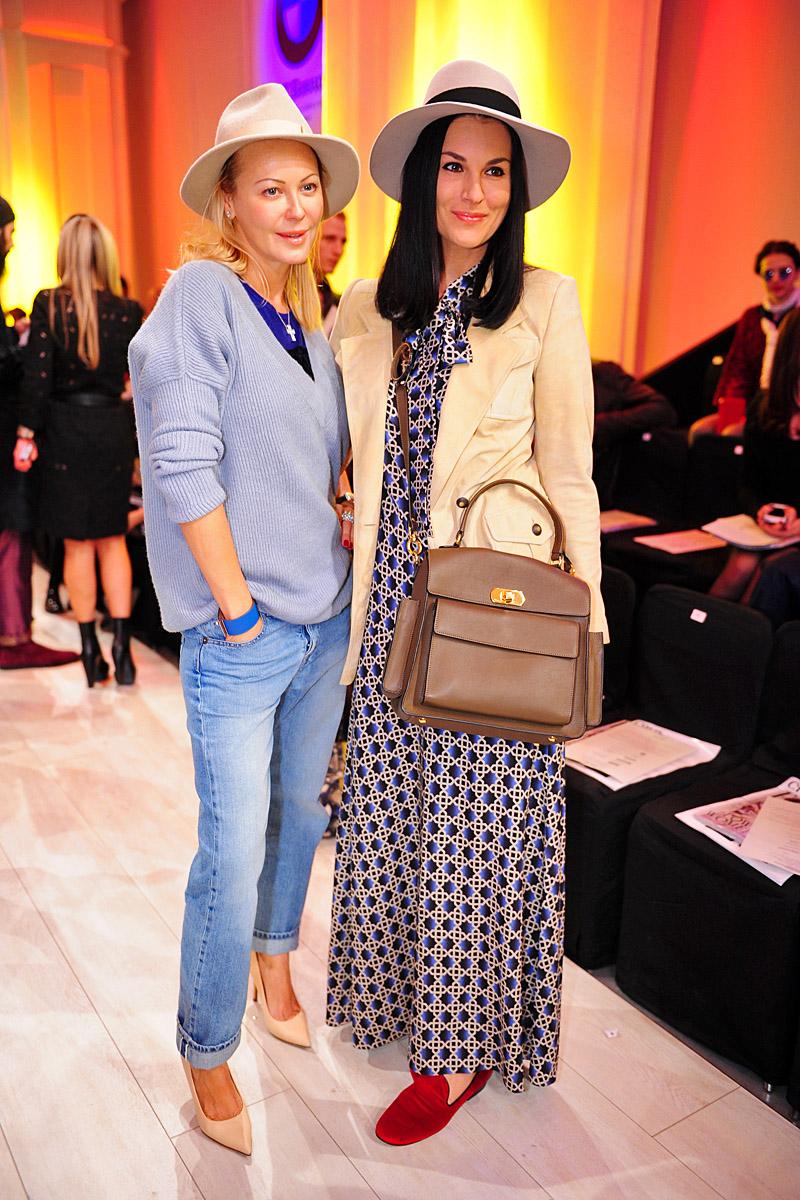 Телеведущая Маша Ефросинина (справа) и дизайнер Ольга Аленова